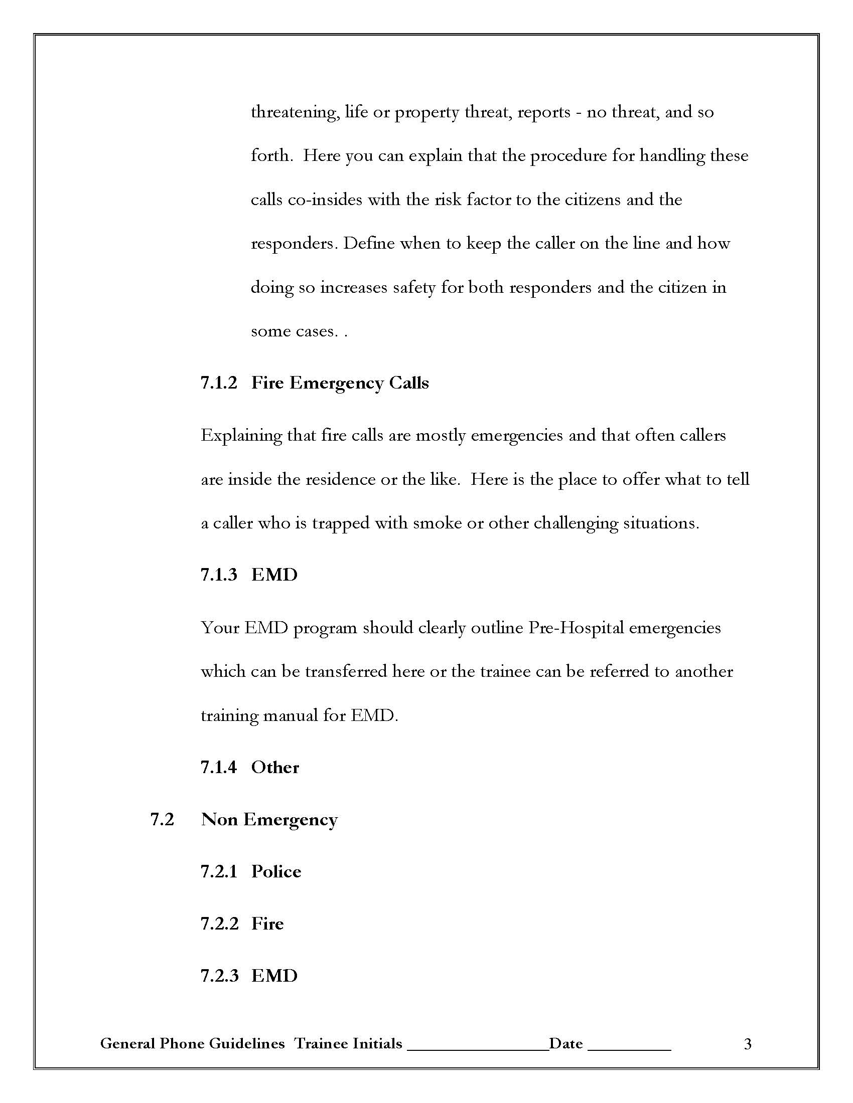 Create a 911 Training Manual Template – How to Manual Template