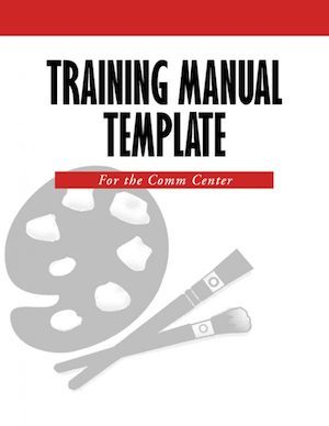 create a 911 training manual template 911 trainer